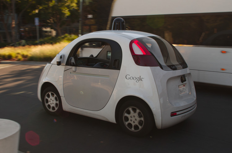 How Driverless Cars Could, Should - and Shouldn't - Reshape Our Cities, Google's driverless car. Image © Michael Shick, licensed under CC BY-SA 4.0, via Wikimedia Commons