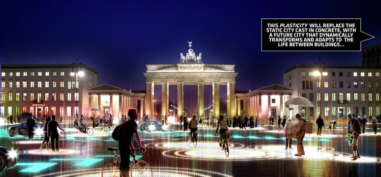 BIG's vision for integrated urban space using driverless cars. Image © BIG