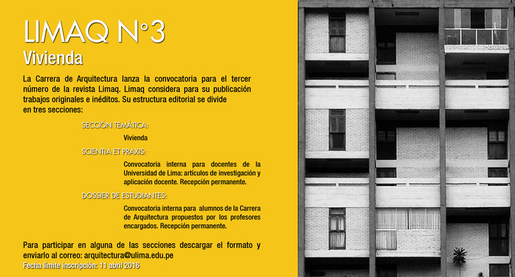 Convocatoria Revista Limaq N°3