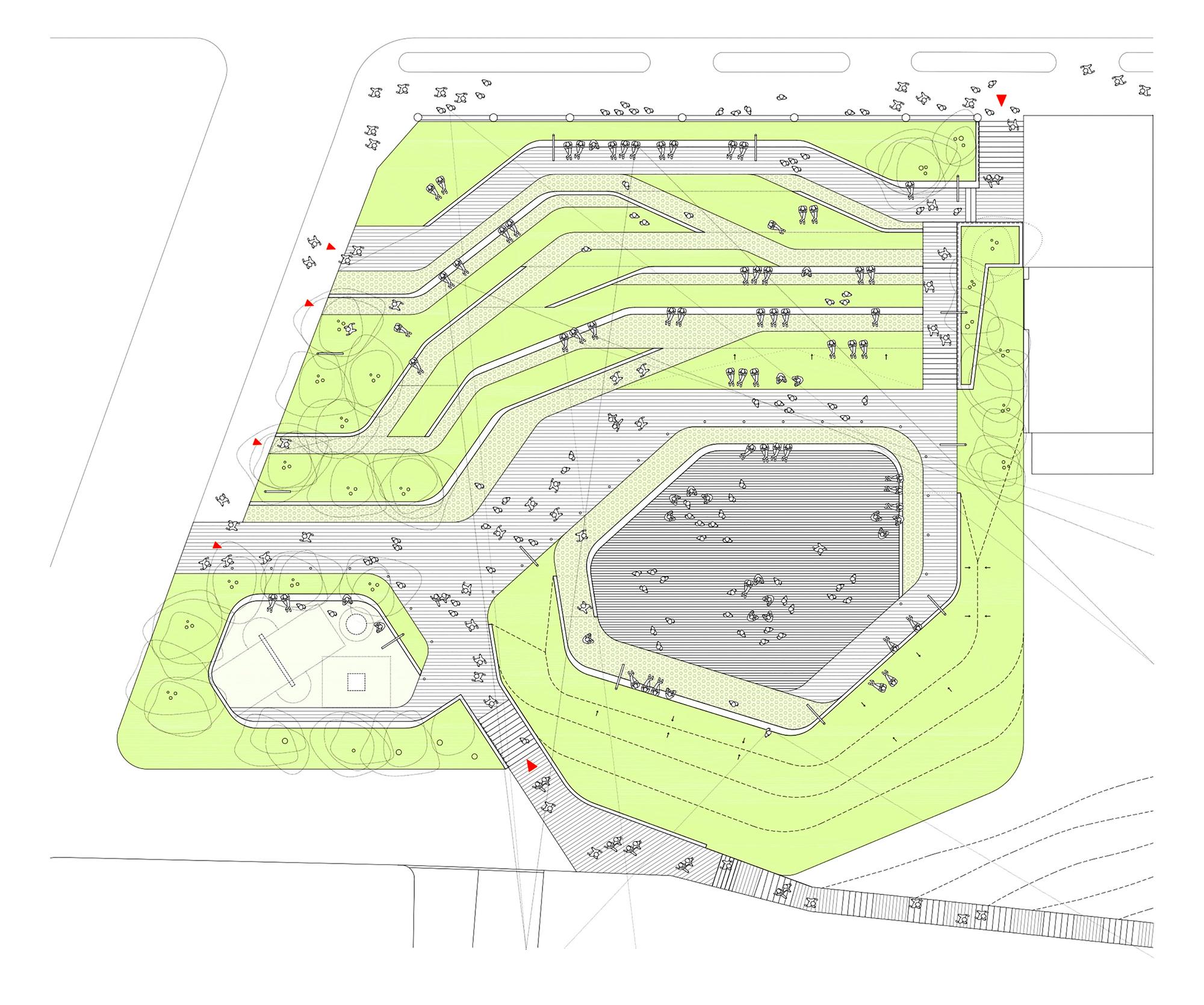 Gallery of san mart n de la mar square zigzag for Plan de arquitectura