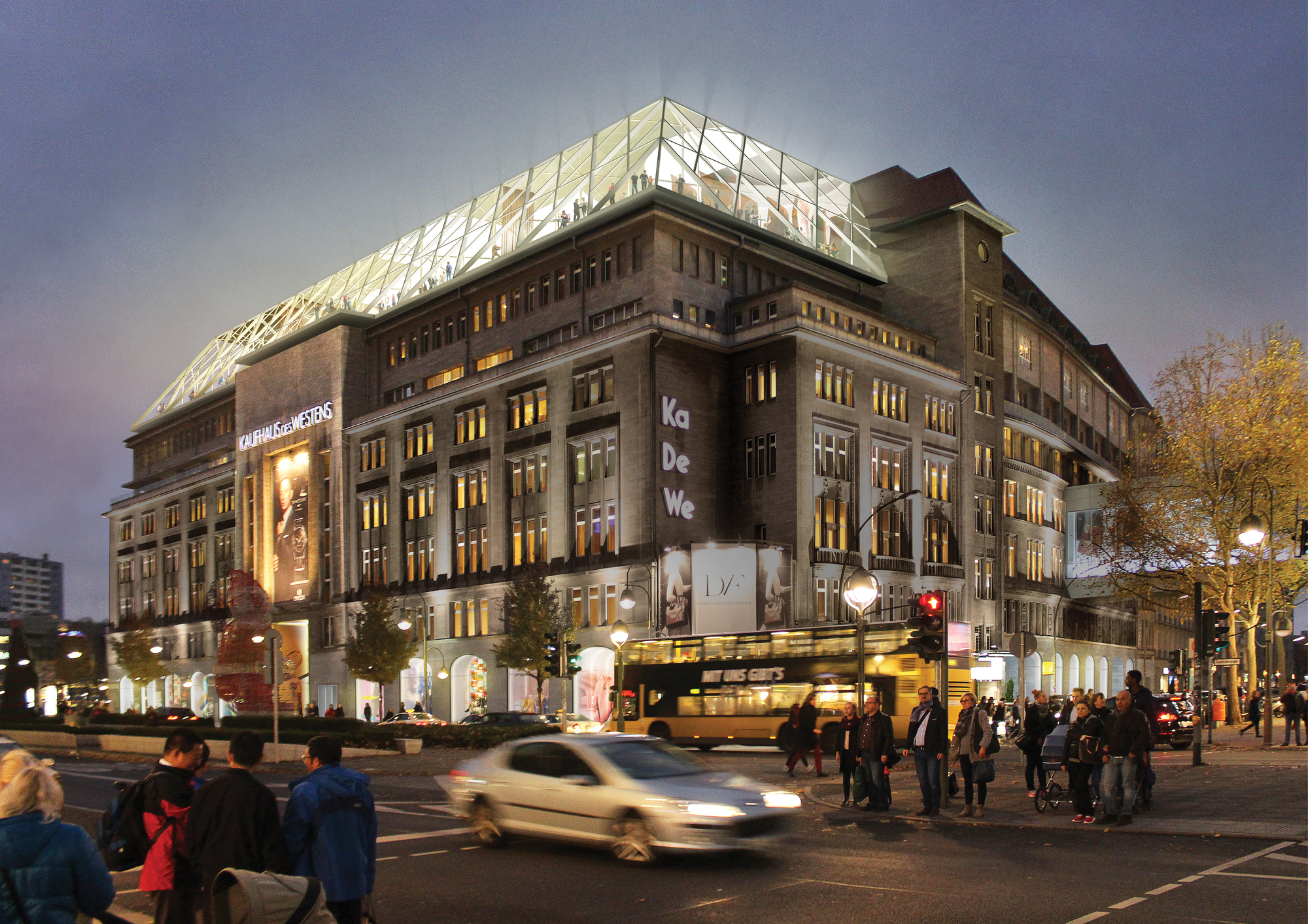 gallery of oma to renovate berlin s historic kadewe department store 1. Black Bedroom Furniture Sets. Home Design Ideas