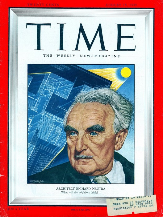 Richard Neutra on the August 15, 1949 cover of Time Magazine