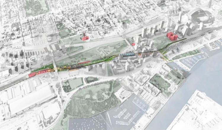 """""""Under Gardiner"""": el proyecto para habilitar espacios públicos bajo una autopista elevada en Toronto, Under Gardiner. Image © Public Work"""