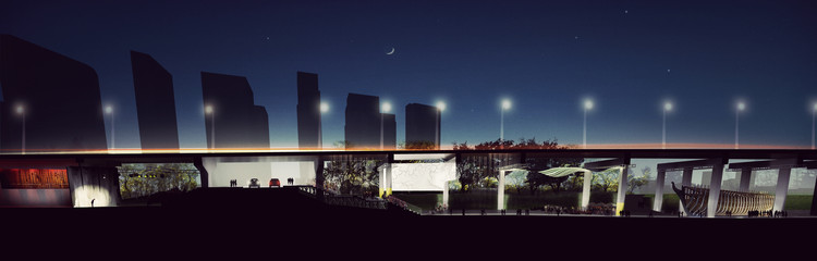 Render noche. Image © Public Work