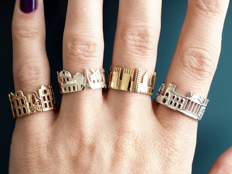 Wear Your Favorite City on Your Finger with These Architectural Rings, via Colossal