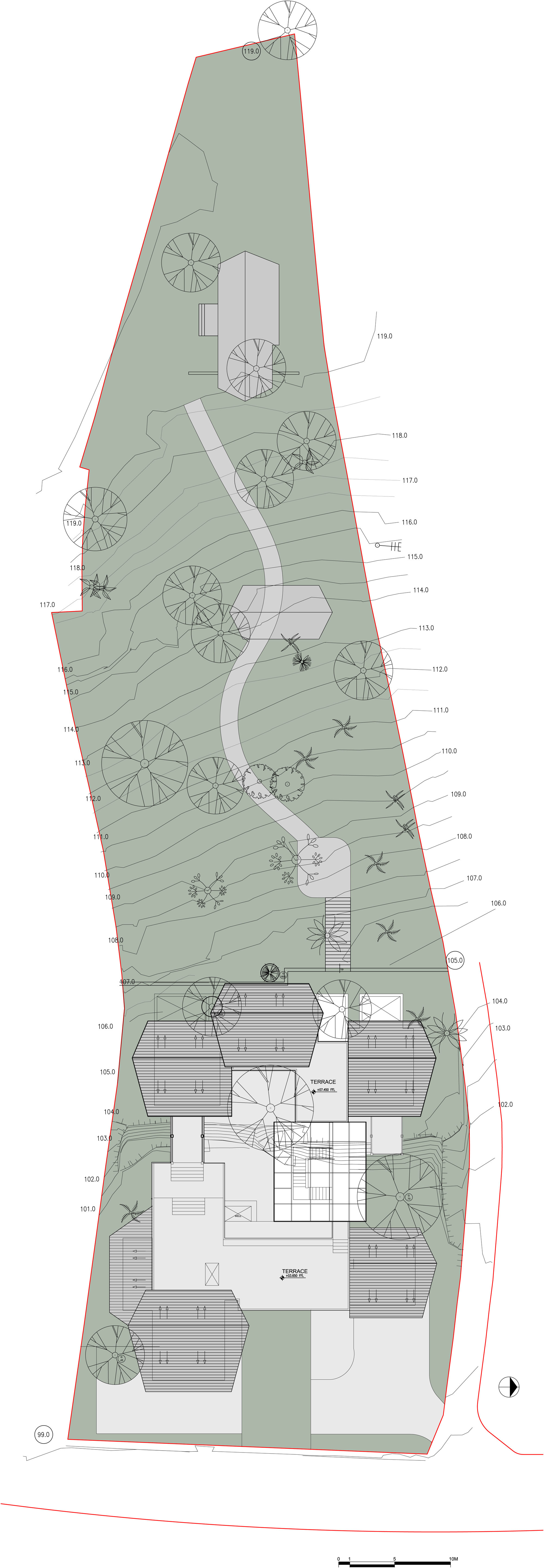 Maison D Architecte Lloyd Wright likewise In And Out Of Three Houses By Office Geers Van Severen likewise Pk Arkitektar Modern Icelandic Turf House further Interlock Driveway moreover 9308. on patio house plan
