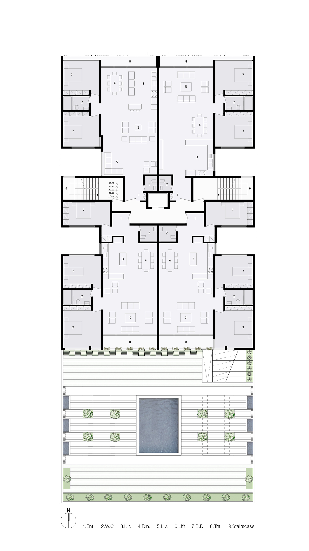 Gallery of the saba apartment sara kalantary reza for Apartment plans for 60x40 site