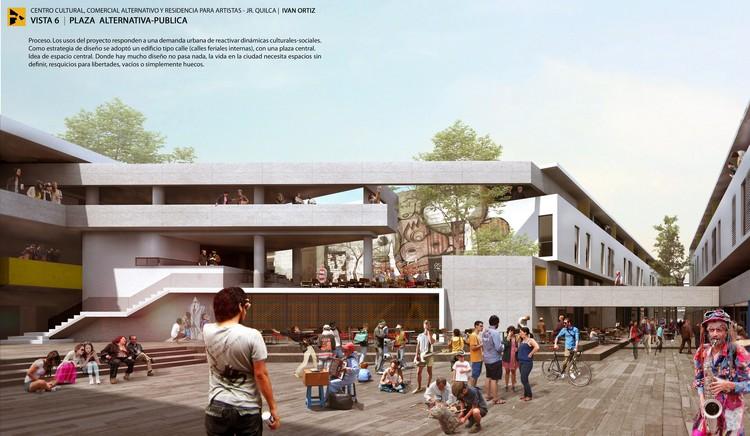 Vista Plaza Pública. Image Cortesía de Ivan Ortiz