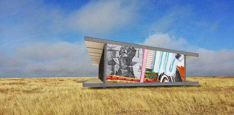 The Billboard House Rendered View. Image Courtesy of Revolution PreCraft
