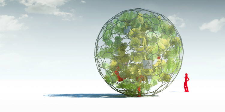 Sphere Greenhouse. Image Courtesy of Revolution PreCraft