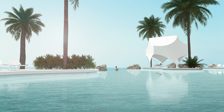 Bettina Pavilion Rendered View. Image Courtesy of Revolution PreCraft