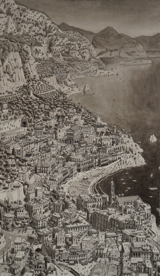 Imaginary town on the Amalfi Coast, Italy. Image © Stefan Bleekrode