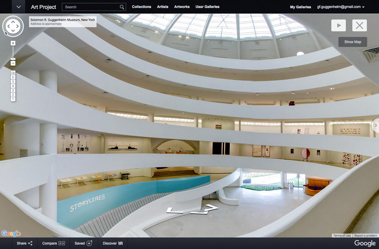 Walk Inside: Google Cultural Institute Puts New York's Guggenheim On The Map, Installation view: Storylines: Contemporary Art at the Guggenheim. Image © Solomon R. Guggenheim Museum, New York