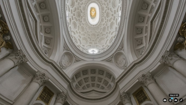 Immerse Yourself in 3D Models Online With Sketchfab's New Virtual Reality Feature, Screenshot from model of San Carlo alle Quattro Fontane by Matthew Brennan