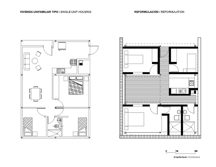 Antes y Después / Arquitectura