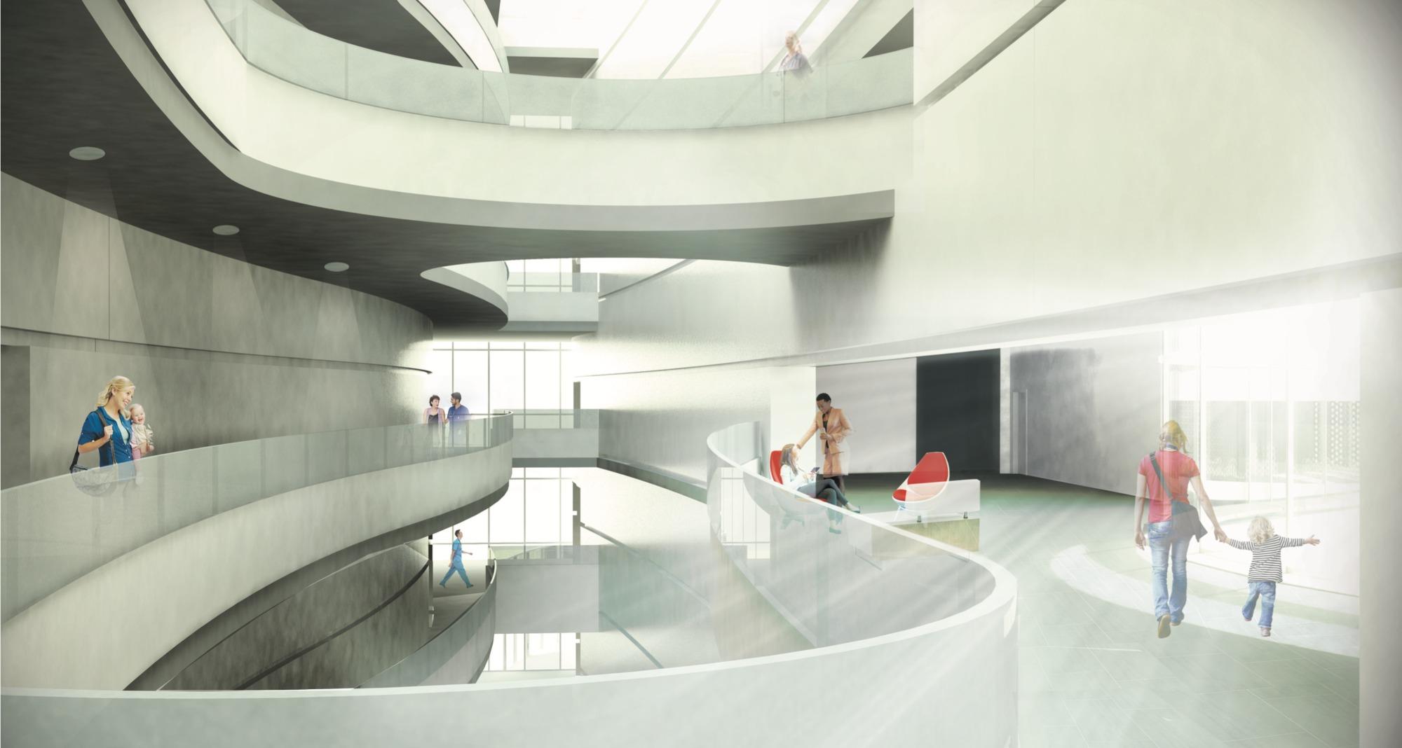 Munroe meyer institute atrium rendering design melissa hywood image courtesy of college