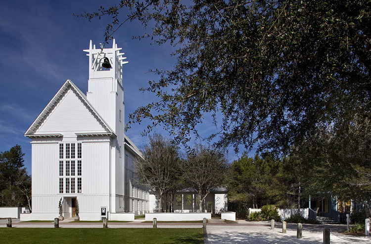 Scott Merrill Named 2016 Richard H. Driehaus Prize Laureate, Seaside Chapel. Image via Merrill, Pastor & Colgan Architects