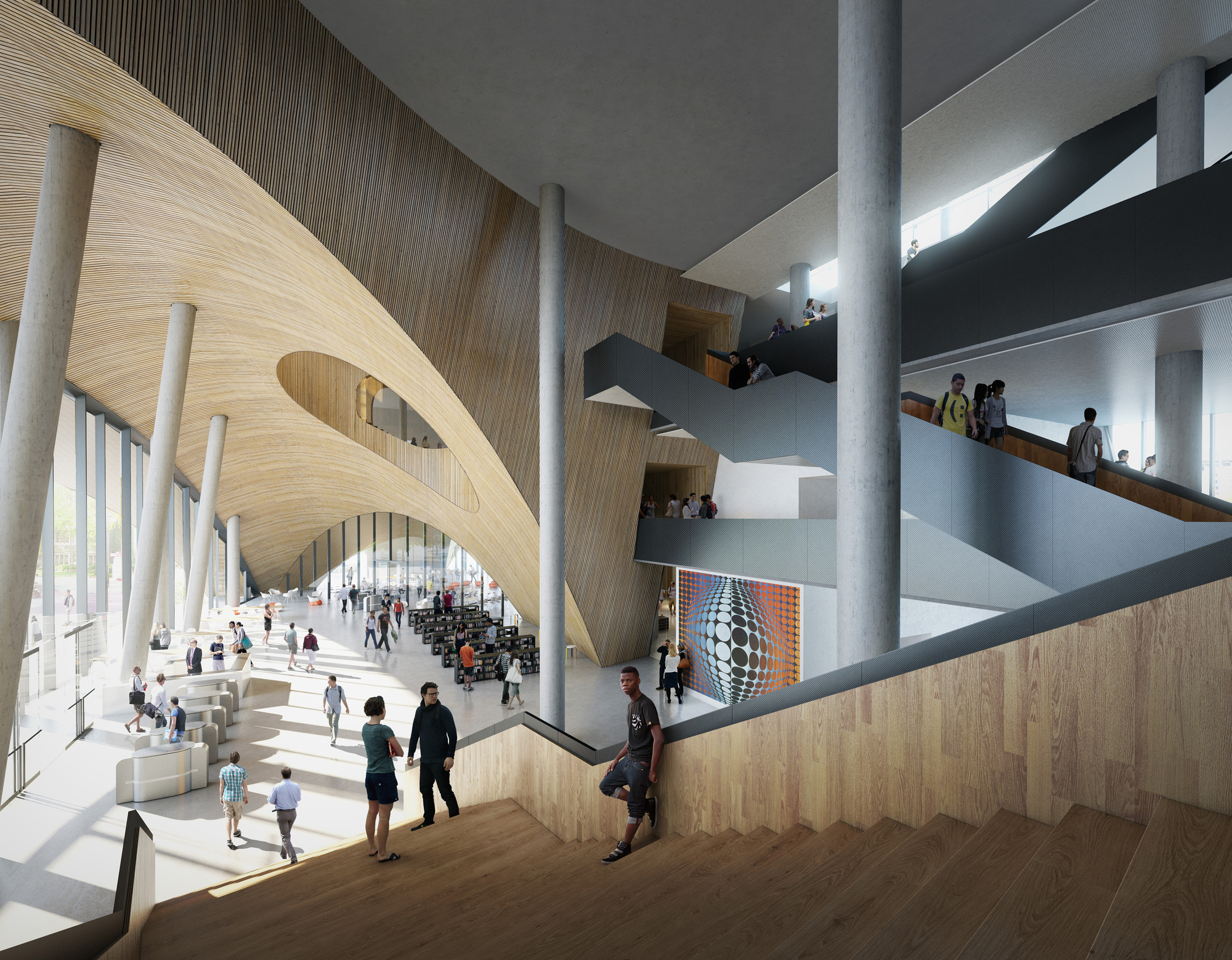 Gallery of Snøhetta Designs New Library for Temple ...