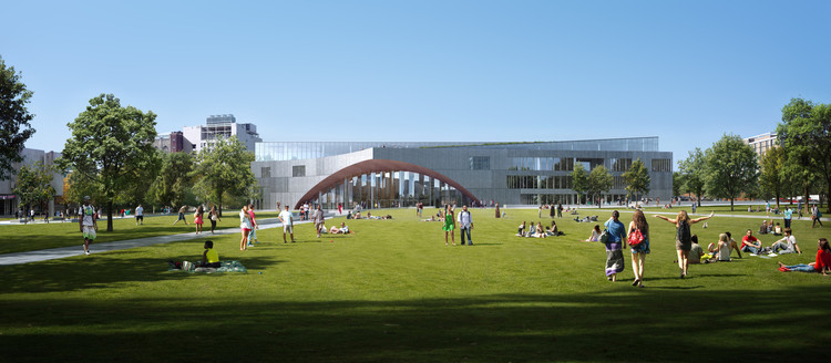 View from East across future Quad. Image © Snøhetta