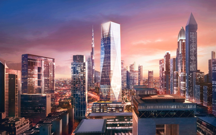 Foster Breaks Ground on New Dubai Skyscraper, © Foster + Partners