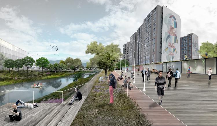 MOBO Architects + Ecopolis + Concreta diseñarán la estrategia de intervención para el río Fucha en Bogotá, Cortesía de MOBO Architects + Ecopolis + Concreta