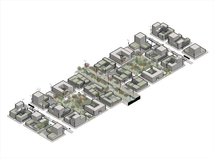 Nuevos desarrollos inmobiliarios proyectados. Image Cortesía de MOBO Architects + Ecopolis + Concreta