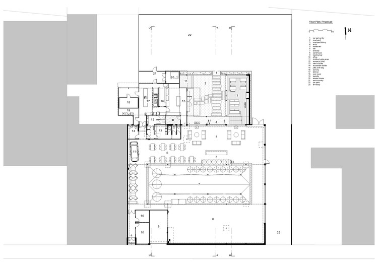 Brothers brewery juke joint bbq ma studio archdaily for Brewery floor plan
