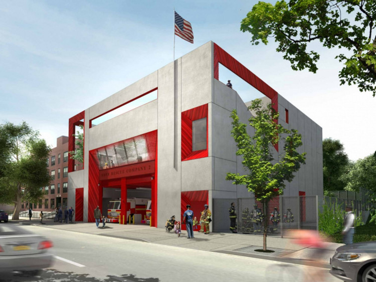 Studio Gang Designs Brooklyn Training Facility for New York Fire Department, © Studio Gang Architects