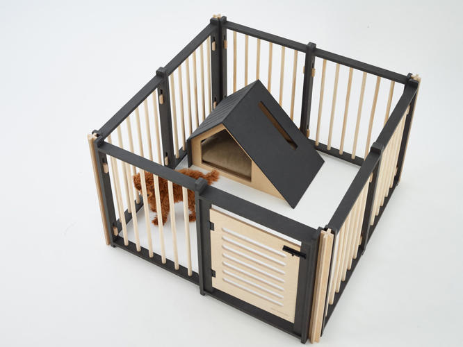 Gallery of minimalist enviable snap together dog houses for Big modern dog house