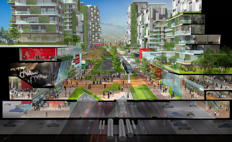 Rendered Section Perspective. Image Courtesy of Sasaki Associates