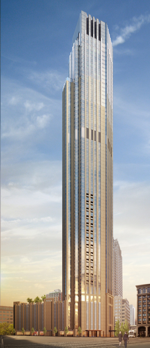 Perkins Eastman Breaks Ground on New Jersey's Tallest Tower, © Perkins Eastman