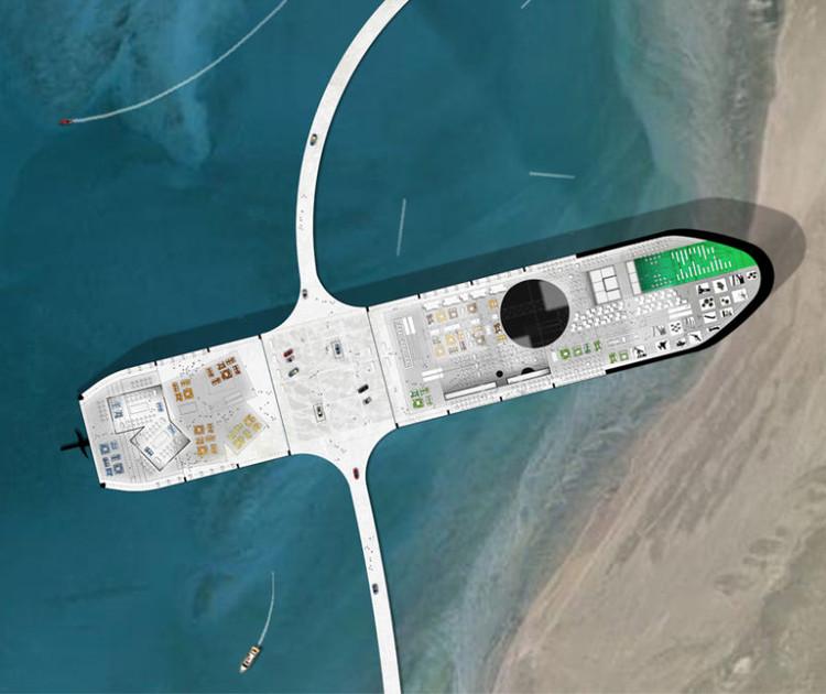 Vista Aérea. Imagen ©  Chris Collaris Design, Ruben Esser, Sander Bakker y Patrick van der Gronde / MISS3