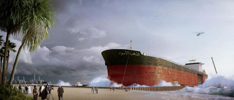 Diseñadores holandeses proponen transformar antiguos buques de carga en pequeñas ciudades, ©  Chris Collaris Design, Ruben Esser, Sander Bakker y Patrick van der Gronde / MISS3