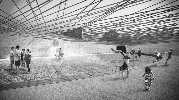 Escobedo Soliz Studio Wins MoMA PS1's 2016 Young Architects Program, Weaving the Courtyard, 2015. Image © Escobedo Soliz Studio