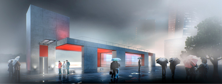 Designs Unveiled for Two New Moscow Metro Stations, Timur Bashkayev Architectural Bureau. Image Courtesy of Strelka KB