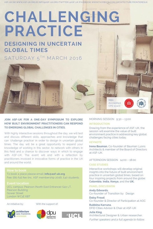 ASF-UK Symposium:  Designing In Uncertain Global Times