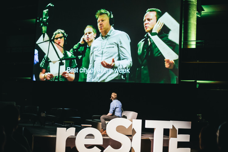 Jon Gnarr, former mayor of Reykjavik, at reSITE 2015. Photo Dorota Velek