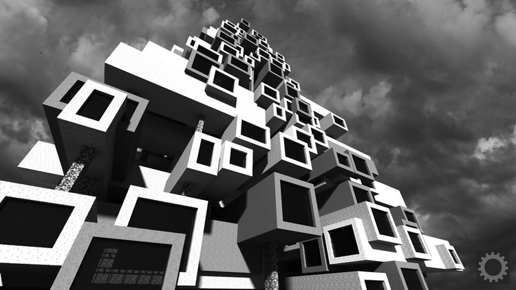 Produced in collaboration with the Royal Institute of British Architects, this Minecraft project coincided with a RIBA exhibit. Its goal was to engage a younger audience with Brutalist architecture. Image Courtesy of BlockWorks