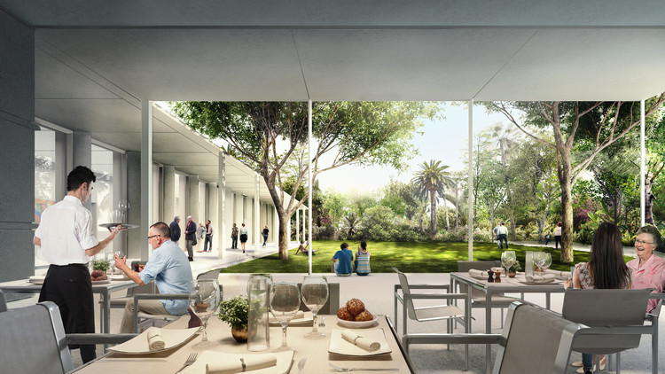 Dining Pavilion. Image © Foster + Partners