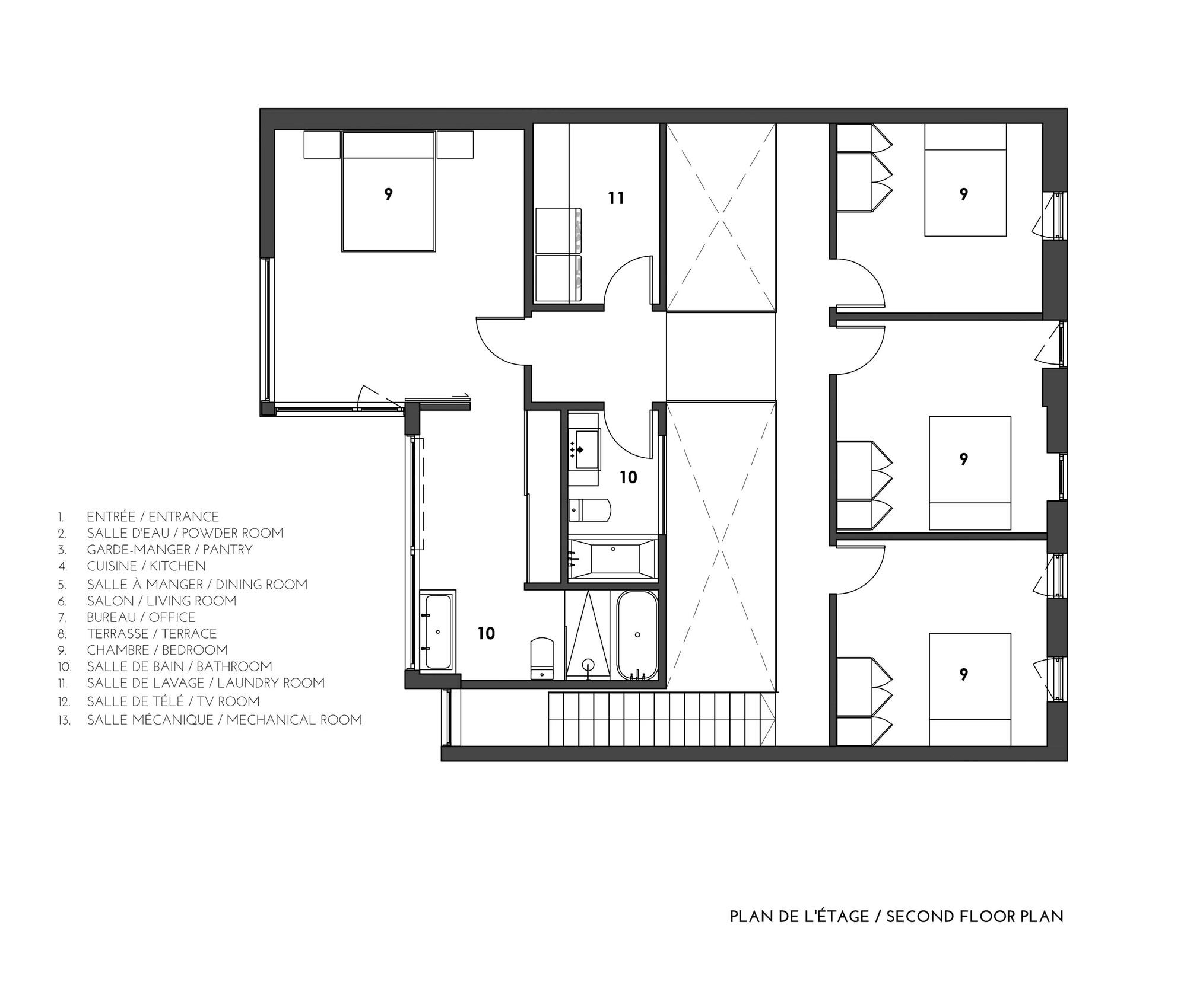 Plan d architecte maison bardage bois vertical pour et for Plan maison minimaliste