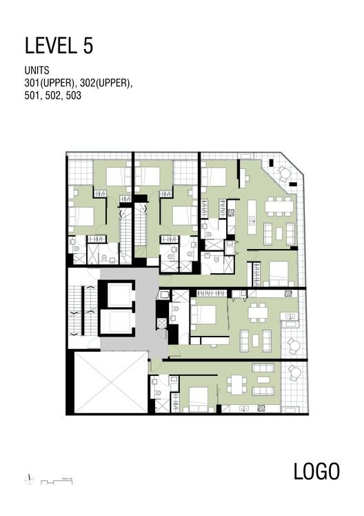 The castlereagh apartments tony owen partners archdaily for Apartment floor plans australia