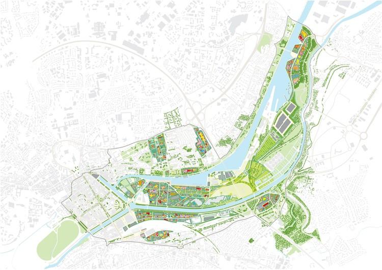 """MVRDV Releases New Images of 600 Hectare """"La Grande Mosaïque"""" Masterplan in Caen, © MVRDV"""