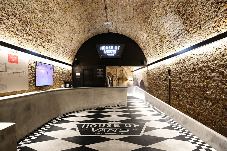 Winner in the Interior Architecture Category. House of Vans London / Tim Greatrex. Image Courtesy of Tim Greatrex