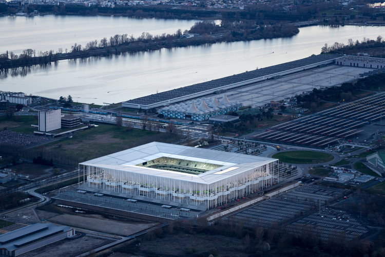 Winner in the Sports Architecture Category. The New Bordeaux Stadium / Herzog & de Meuron. Image © Iwan Baan