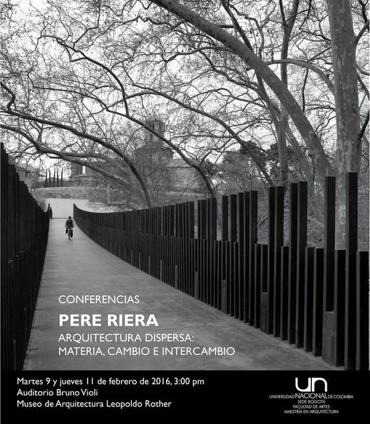 Conferencia pere riera arquitectura dispersa materia for Arquitectura materias