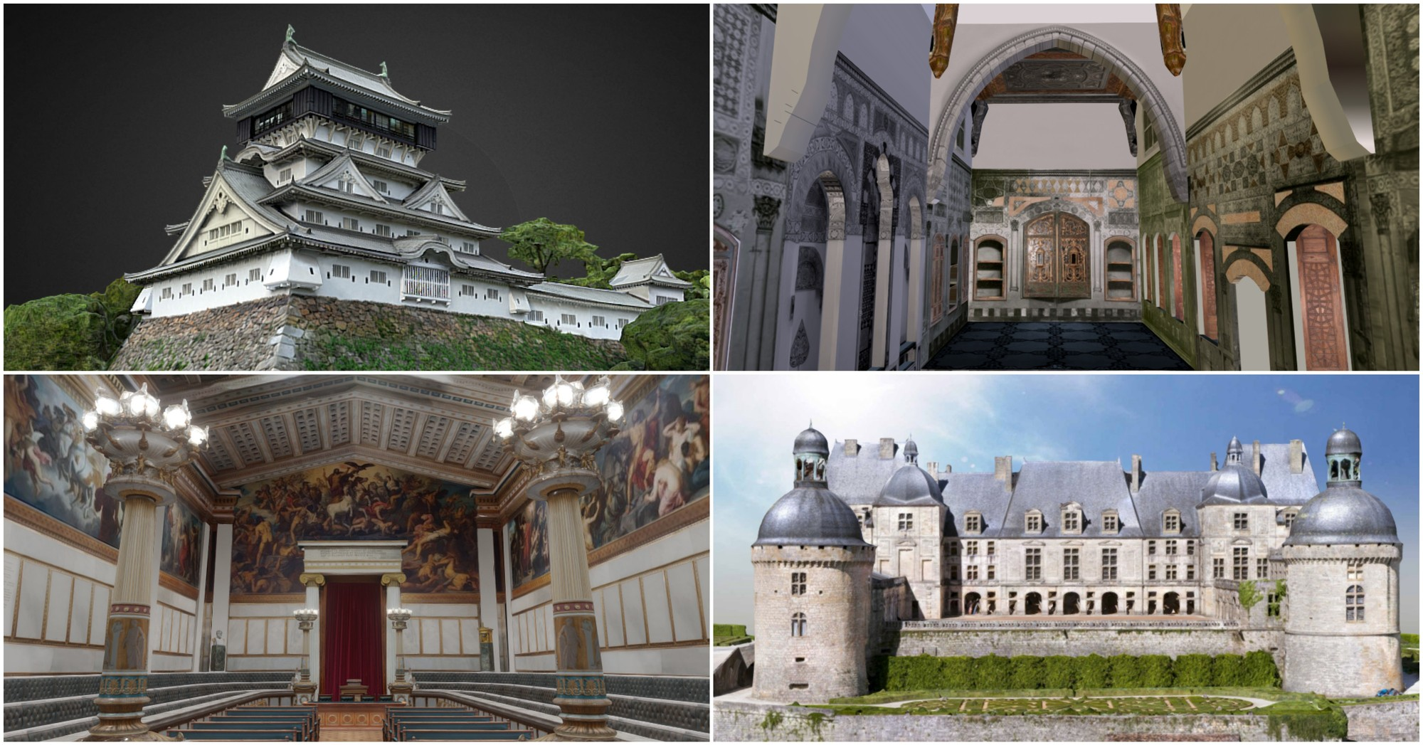 8 Beautiful Historic Buildings In 3d Models As Selected