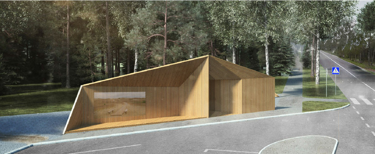 Bus Stop for Dead Dune by SIMONA KAZAKAUSKAITĖ AND AISTĖ ALEKSANDROVIENĖ. Image Courtesy of Architect Algimantas Zaviša Charity Foundation