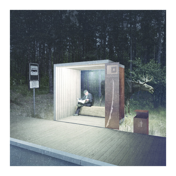 Series of Bus Stops Along the Curonian Spit Will Connect 6 Previously Isolated Villages, Signs for the Curonian Spit by AKETURI ARCHITEKTAI. Image Courtesy of Architect Algimantas Zaviša Charity Foundation