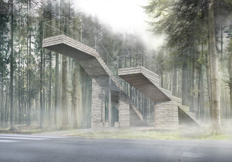 Bus Stop for Vecekrugas Dune by VAIVA ANDRIUŠYTĖ AND ERNESTA BAGUŽAITĖ. Image Courtesy of Architect Algimantas Zaviša Charity Foundation