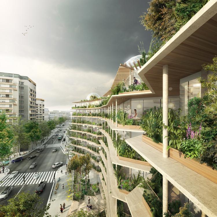 Vista exterior. Imagen cortesía de Jacques Ferrier chartier dalix architectes / image SPLANN